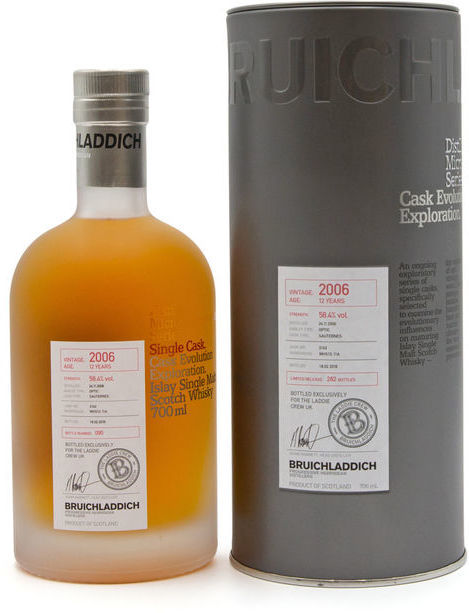 Bruichladdich 12 years old 2006, cask 3142