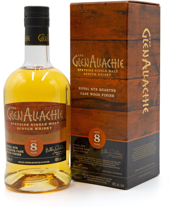 GlenAllachie 8 years old, Koval Rye Quarter Cask Wood Finish