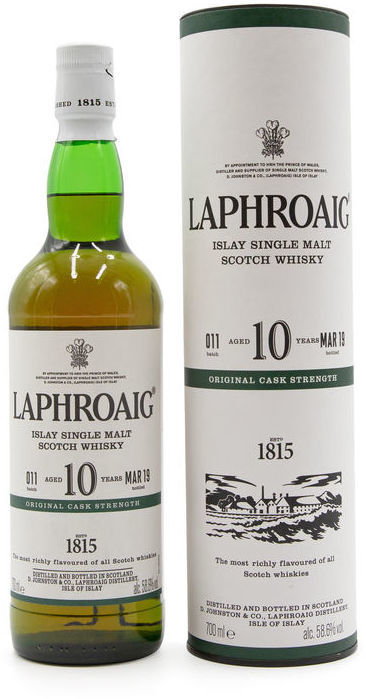 Laphroaig 10 years old, Cask Strength