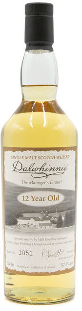 Dalwhinnie 12 years old, Manager's Dram
