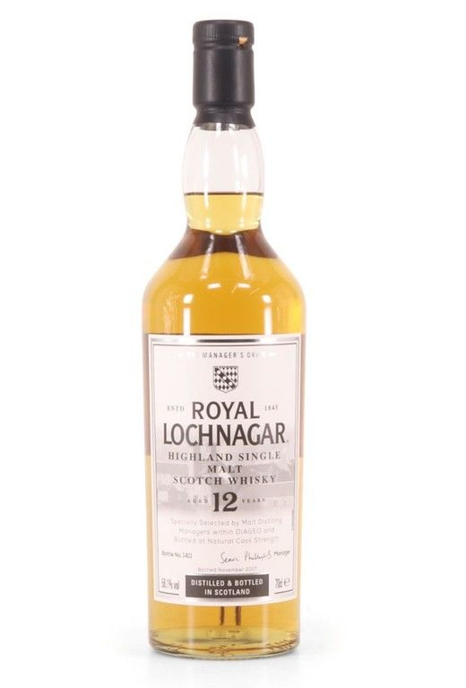 Royal Lochnagar 12 years old, Manager's Dram