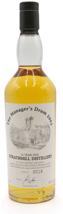 Strathmill 15 years old, Manager's Dram
