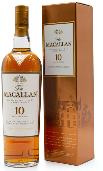 The Macallan 10 years old, Bronze Box