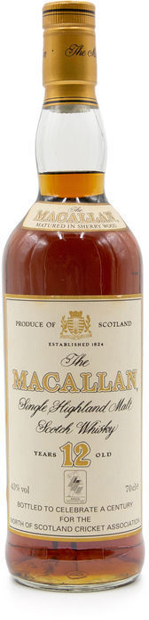 The Macallan 12 years old, Cricket Association
