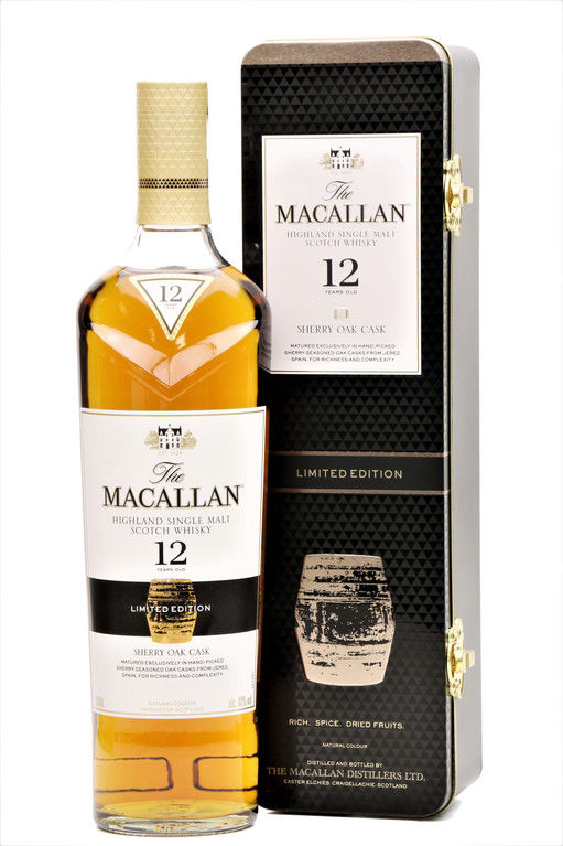 The Macallan 12 years old Sherry Oak, Gift Tin