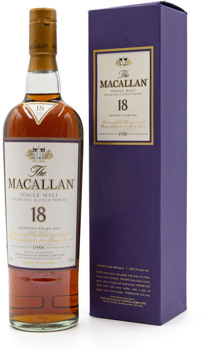 The Macallan 18 years old, 1988