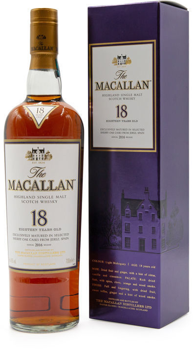 The Macallan 18 years old, 2016