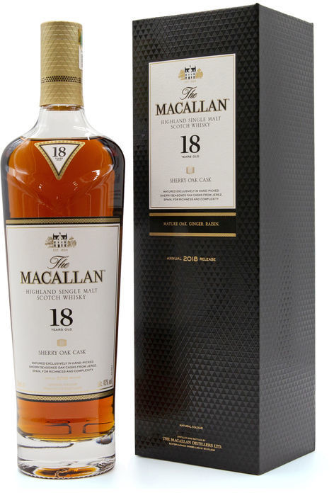 The Macallan 18 years old, 2018
